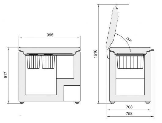 Šaldymo dėžė LIEBHERR  GT 3032 Comfort    298 ltr,  91x101cm