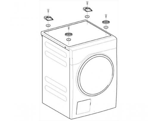Rinkinys džiovyklės montavimui ant skalbyklės MIELE WTV 500