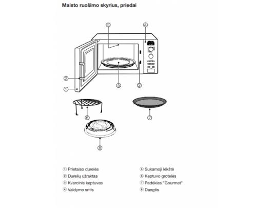 Mikrobangų krosnelė  MIELE M 6012 SC
