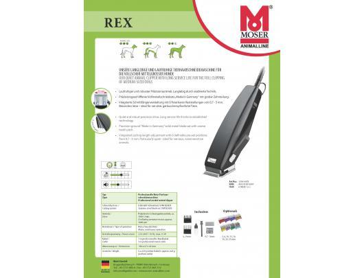 Plaukų kirpimo mašinėlė gyvūnams  MOSER 1230-0078 Rex