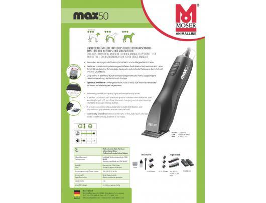 Plaukų kirpimo mašinėlė gyvūnams MOSER 1250-0061 MAX50