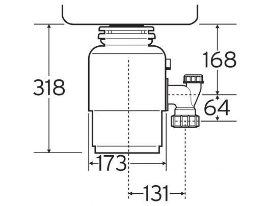 Maisto atliekų smulkintuvas ISE 56-2