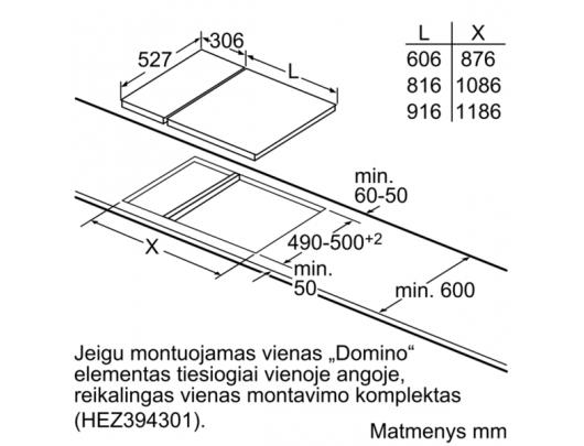 Kaitlentė Domino BOSCH PKF375FP1E