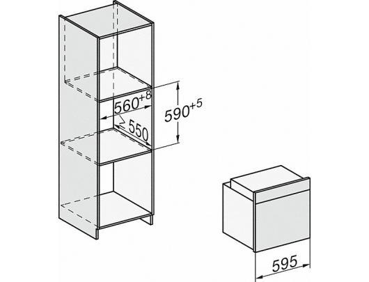 Orkaitė MIELE H 7164 B (+ HFC) EDST/CLST