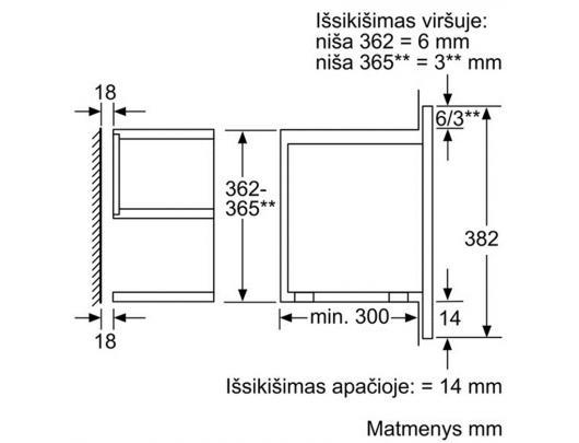 Mikrobangų krosnelė BOSCH BFR634GB1