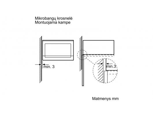 Mikrobangų krosnelė BOSCH BFL554MB0