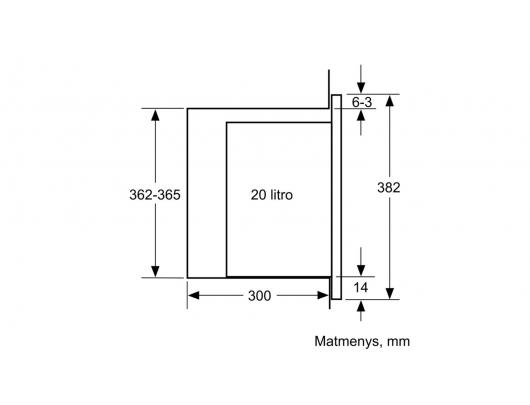 Mikrobangų krosnelė BOSCH BFL520MW0