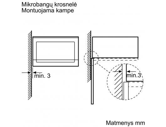 Mikrobangų krosnelė BOSCH BFL523MS0