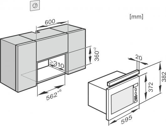 Mikrobangų krosnelė MIELE M 6032 EDST/CS