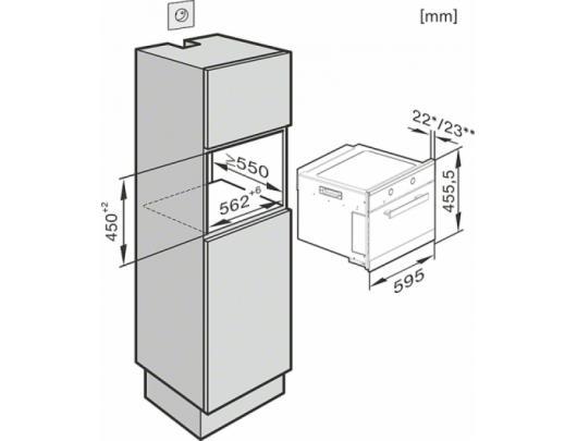 Mikrobangų krosnelė  MIELE M 6262 EDST/CS