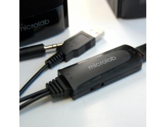 Kolonėlė Microlab B-56 2.0, 3.5mm, Black, 3 W