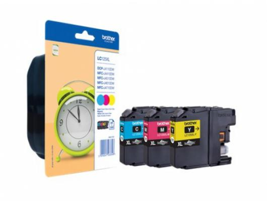 Rašalo kasetė Brother LC-125XL/127XL Multipack, Black, Cyan, Magenta, Yellow