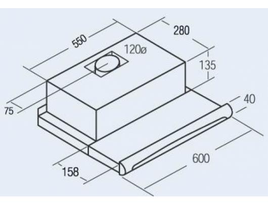 Gartraukis CATA TF-5260/C Inox 60 cm 600 m³/h 65 dB Inox