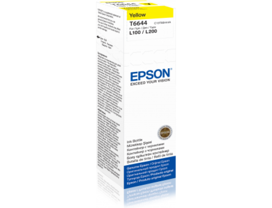 Rašalo kasetė Epson T6644 bottle 70ml, Yellow