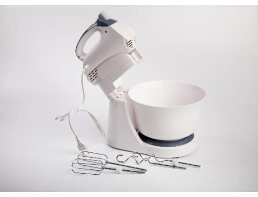 Mikseris Adler AD 4202 with bowl, 300 W, greičio režimų skaičius 5, Turbo mode, White