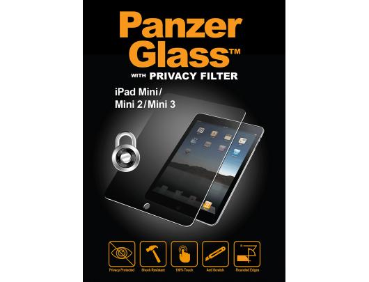 Ekrano apsauga PanzerGlass P1050, Apple, iPad mini/ mini 2/ mini 3, grūdintas stiklas, skaidrus, glass