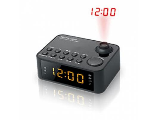 Radijo imtuvas Muse Clock radio M-178P Black, 0.9 inch amber LED, with dimmer