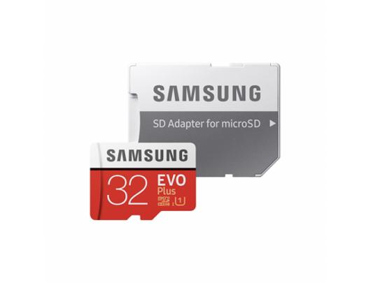 Atminties kortelė Samsung EVO PLUS UHS-I 32GB Micro SDHC CL10 su SD adapteriu