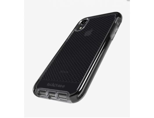 Dėklas Tech21 Evo Check T21-6105, Apple, iPhone XR, Flexshock material, Smokey/Juoda