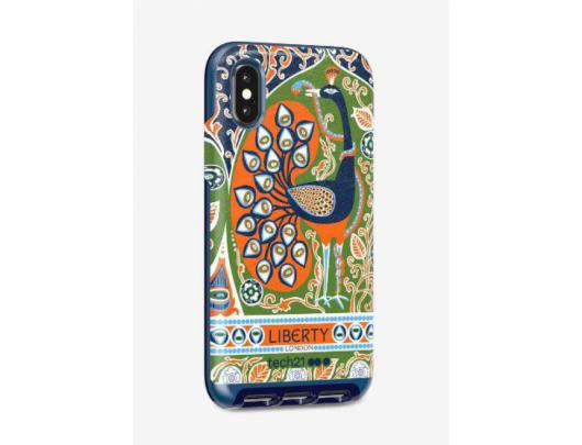 Dėklas Tech21 Evo Luxe Liberty Francis T21-6189, Apple, iPhone X/Xs, Faux leather fabric, Mėlyna