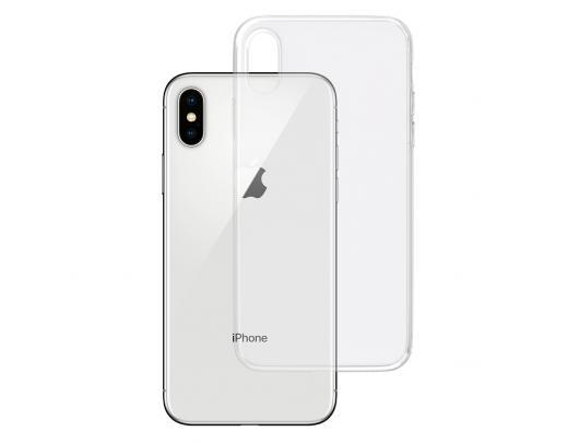 Dėklas 3MK Clear, Apple, iPhone X, TPU, Skaidrus