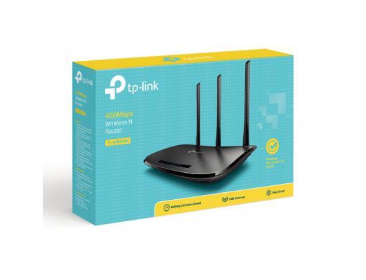 Maršrutizatorius TP-LINK Router TL-WR940N 802.11n, 450 Mbit/s, 10/100 Mbit/s, Ethernet LAN (RJ-45) ports 4, Antenna type 3xExternal antennas