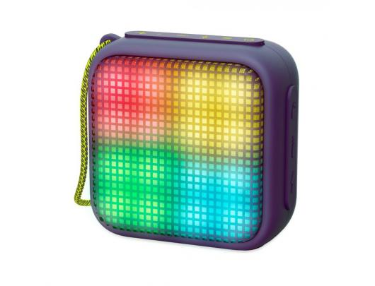 Bluetooth kolonėlė Energy Sistem Beat Box 2+ Lightcube Bluetooth Speaker, Amethyst