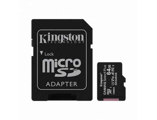 Atminties kortelė Kingston Canvas Select Plus UHS-I 64GB Micro SDXC CL10 su SD adapteriu