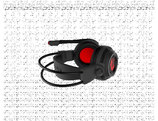 Žaidimų ausinės MSI DS502, USB