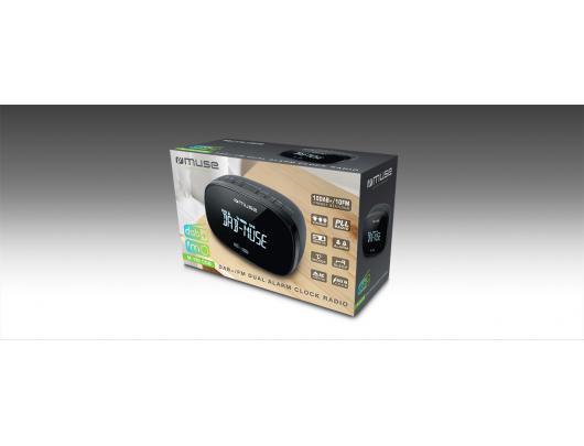 Radijo imtuvas Muse DAB+/FM Dual Alarm Clock Radio M-150 CDB Alarm function, AUX in, Black