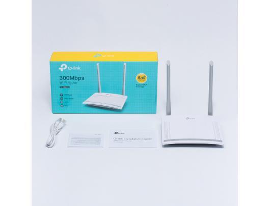 Maršrutizatorius TP-LINK Router TL-WR820N 802.11n, 300 Mbit/s, 10/100 Mbit/s, Ethernet LAN (RJ-45) ports 2, MU-MiMO Yes, Antenna type External