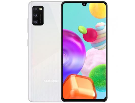 """Mobilusis telefonas Samsung Galaxy A41 Prism Crush White 6.1"""" 64GB Dual SIM"""