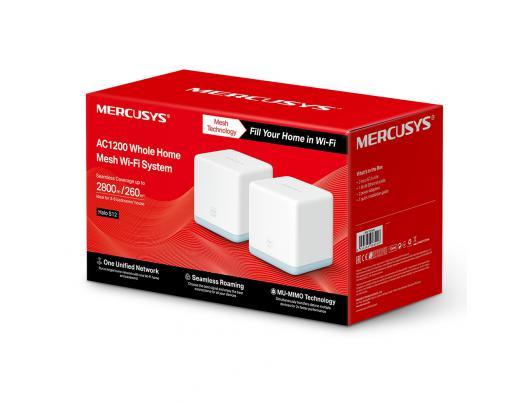 Maršrutizatorius Mercusys AC1200 Wi-Fi System Halo S12 (2-Pack) 802.11ac