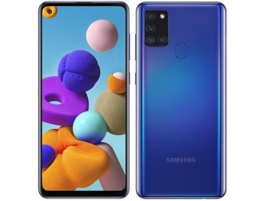 "Mobilusis telefonas Samsung Galaxy A21s Blue 6.5"" 32GB"