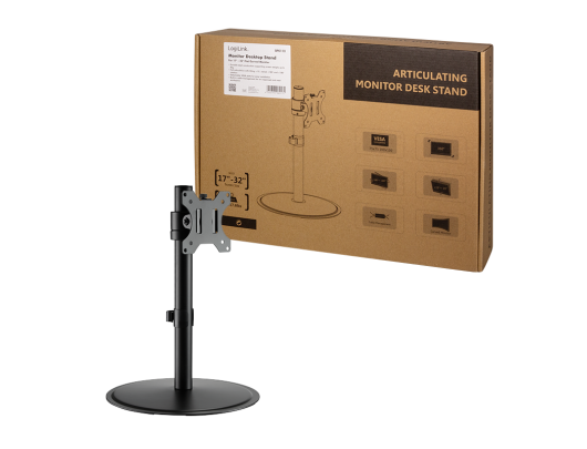 "Monitoriaus laikiklis Logilink Monitor Stand BP0110 Desk Mount, 17-32 "", Maximum weight (capacity) 8 kg, For Flat/Curved Monitor, Black"