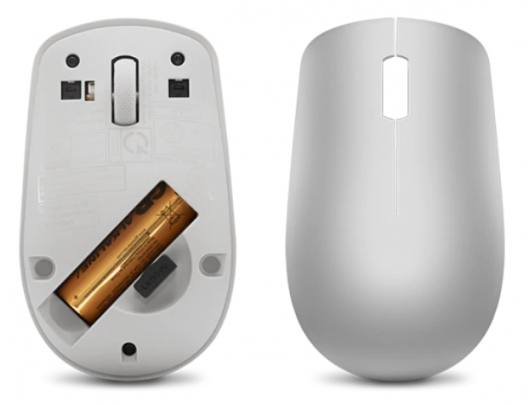 Pelė Lenovo Wireless Mouse 530 Optical Mouse, Platinum Grey, 2.4 GHz Wireless via Nano USB
