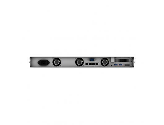 Diskų masyvas Synology Rack NAS RS820+ up to 4 HDD/SSD Hot-Swap, Intel Atom C3538 Quad Core, Processor frequency 2.1 GHz, 2 GB, DDR4, Redundant PSU, RAID 0,1,5,6,10,Hybrid, 4x1GbE, 2xUSB 3.0, 1x eSATA, 1xPCIe, Triple Fan