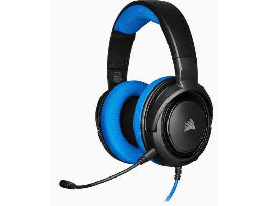 Ausinės Corsair Stereo Gaming Headset HS35 Built-in microphone, Blue, Over-Ear