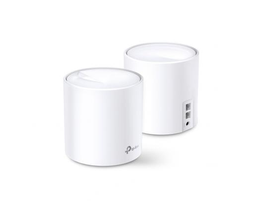 Maršrutizatorius TP-LINK AX1800 Whole Home Mesh Wi-Fi 6 System Deco X20 (2-pack) 802.11ax, 1201+574 Mbit/s, 10/100/1000 Mbit/s, Ethernet LAN (RJ-45) ports 2, Mesh Support Yes, MU-MiMO Yes, Antenna type 4xInternal per Deco uni