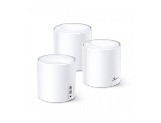 Maršrutizatorius TP-LINK Whole-Home Wi-Fi System Deco X20(3-pack) 802.11ac, 1201 Mbit/s, 10/100/1000 Mbit/s, Ethernet LAN (RJ-45) ports 2