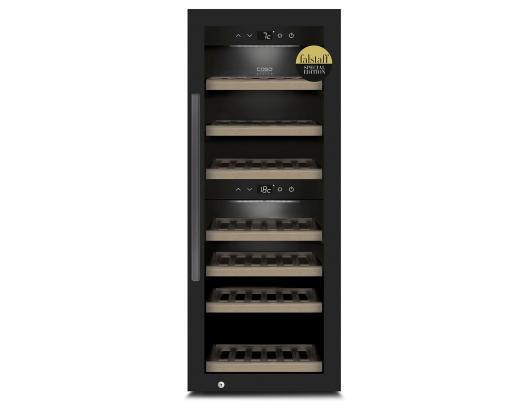 Vyno šaldytuvas Caso Smart Wine Cooler WineExclusive 38 Energy efficiency class G, Free standing, Bottles capacity Up to 38 bottles, Cooling type Compressor technology, Black