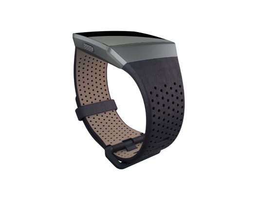 Apyrankė Fitbit Ionic Accessory Perforated Leather Band Navy - L dydžio