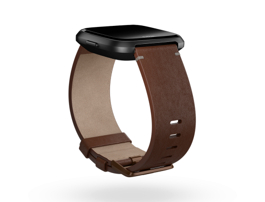 Apyrankė Fitbit Versa Accessory Leather Band Cognac - L dydžio