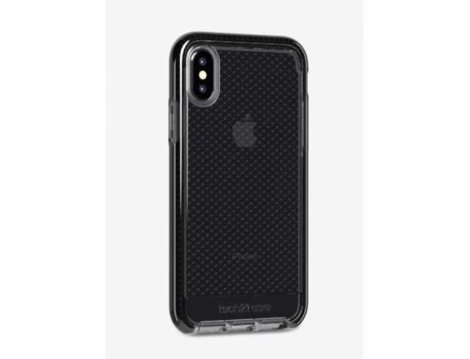 Dėklas Tech21 Evo Check T21-6169, Apple, iPhone X / Xs, Flexshock material, Smokey/Juoda